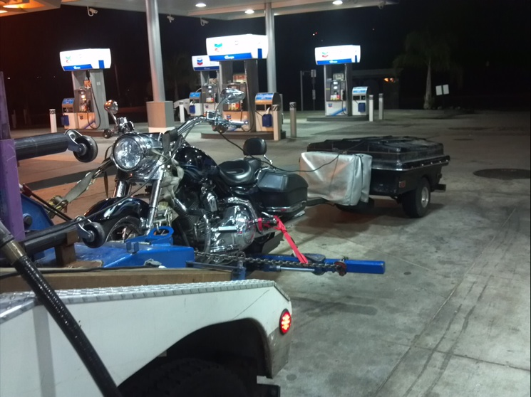 LA motorcycle towing